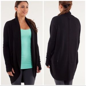 EUC Lululemon10 Black Knit Transformation Cardigan
